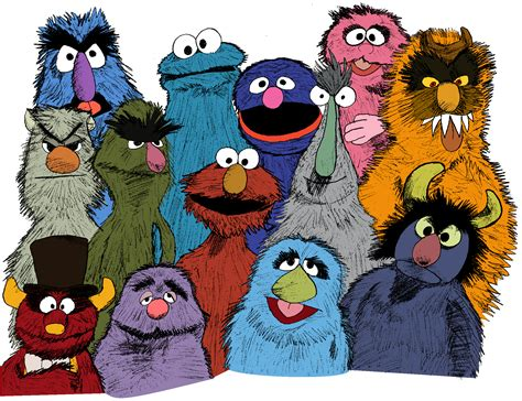 Sesame Street Monsters Pictures To Pin On Pinterest