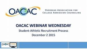 Webinar Wednesday : Student athletic recruitment