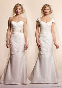amy kuschel 2013 wedding dresses wedding inspirasi With how to add sleeves to a strapless wedding dress