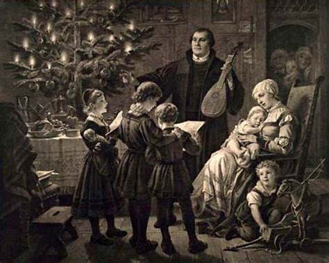 luthers christmas tree martin luther i am a child
