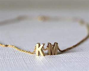 initial necklace tiny gold letter necklace With tiny gold letter necklace