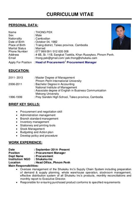 Updated Curriculum Vitae Format by Cv Update