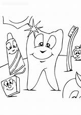 Coloring Dental Sheets Pages Teeth Hygiene Children Forkids Care Baby sketch template