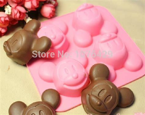 cake mickey mouse silicone molds shape chocolate candy soap muffin pudding cupcake baking cup pink cute making mold