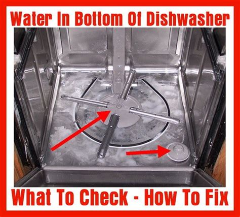 whirlpool filter water in bottom of dishwasher how to fix