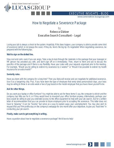negotiate  severance package
