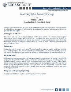 how to negotiate a severance package With severance letter template