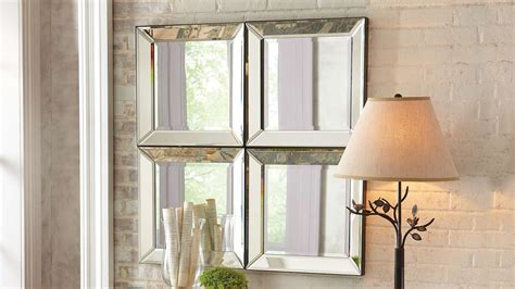 Outstanding Large Glass Bevelled Wall Mirror