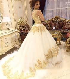where can i sell my wedding dress locally aliexpress buy white ivory wedding dress gold high neck lace appliques bead bridal wedding