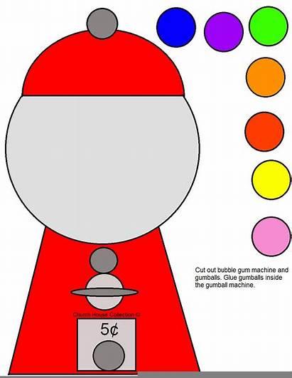 Gumball Machine Craft Cut Bubblegum Clipart Crafts