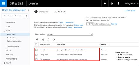 Office 365 Portal Admin by Sign Up For Office 365 With Azure Account Microsoft Docs