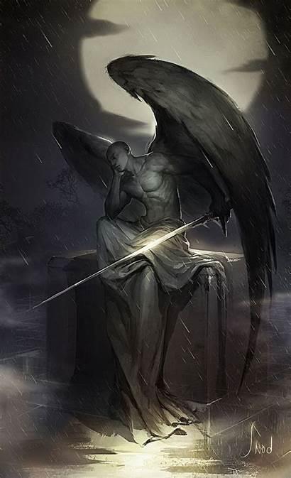 Angel Angels Dark Guardian Fantasy Male Wings