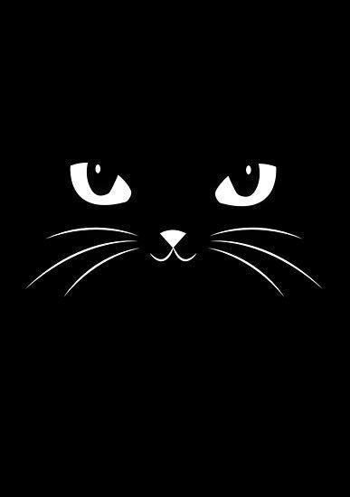 'Cute Black Cat' Poster by badbugs in 2020 | Black cat art