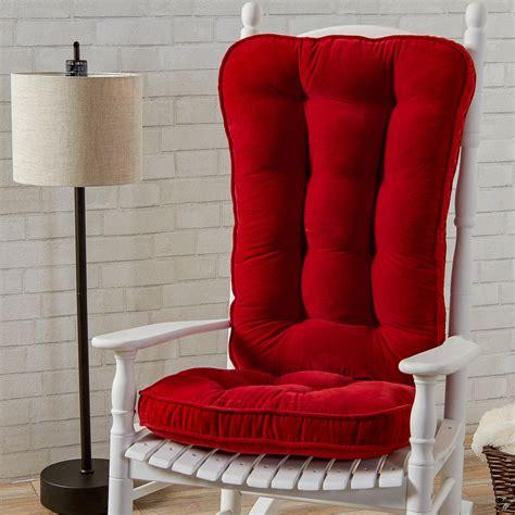 rocking chair cushion sets jumbo greendale home fashions hyatt jumbo rocking chair cushion