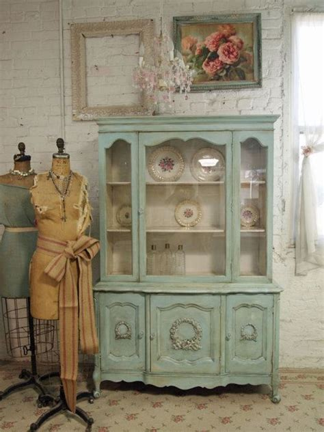 shabby chic mint green hutch pictures   images