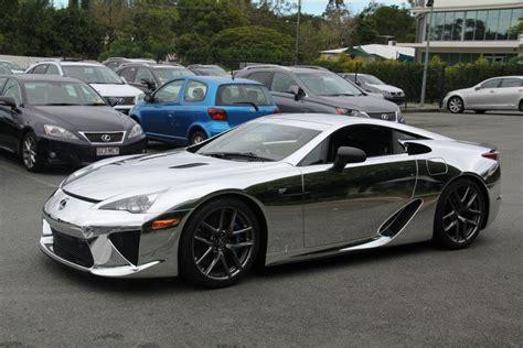 First Chrome Wrapped Lexus Lfa Car Tuning