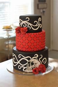 Deko 50er Party : stilvolle torte in schwarzer und roter farbe rote rose dekoration 50er party wohnung deko ~ Sanjose-hotels-ca.com Haus und Dekorationen