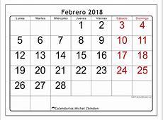 Calendario febrero 2018 62LD Michel Zbinden es