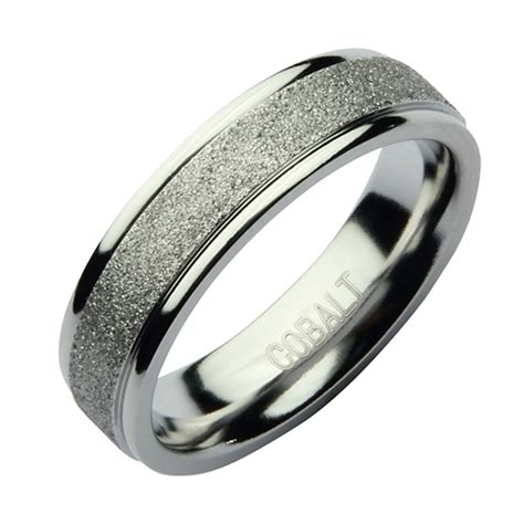 mm cobalt sparkle wedding ring band cobalt rings