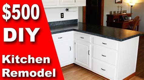 how to upgrade kitchen cabinets on a budget how to 500 diy kitchen remodel update counter