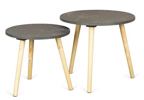 2er set couchtisch 2er set beistelltisch beton optik holz 2 gr 246 223 en 40 und 48