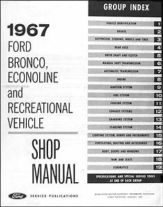1967 Ford Bronco  U0026 Econoline Repair Shop Manual Original