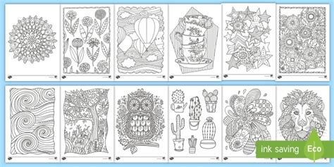 mindfulness colouring sheets bumper pack  kids