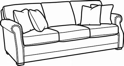 Clipart Drawing Pillow Furniture Bedroom Sofa Transparent