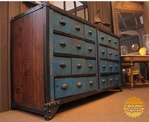 Rangement Métallique Industriel : meuble tiroirs industriel ~ Teatrodelosmanantiales.com Idées de Décoration