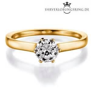 solitär verlobungsring royal gelbgold in 14 karat 585 - Verlobungsring 1 Karat