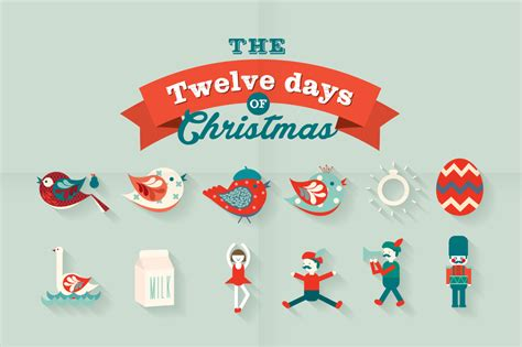 The 12 Days Of Christmas Vector  Illustrations On Creative Market