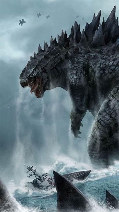 Godzilla Wallpapers Iphone Monsters Desktop Dinosaur Background