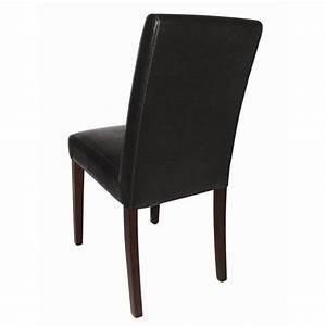 Chaise En Cuir Noir : chaise en simili cuir noir harik equipements ~ Teatrodelosmanantiales.com Idées de Décoration