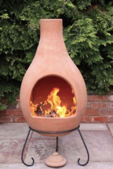 clay chiminea care backyard design  decor