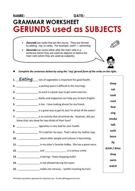 gerund examples   examples
