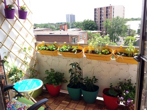 Apartment Balcony Container Garden Before And After