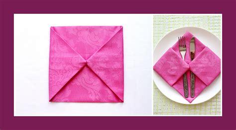 Bestecktaschen Aus Servietten Falten by Bestecktasche Falten Papier Wohn Design