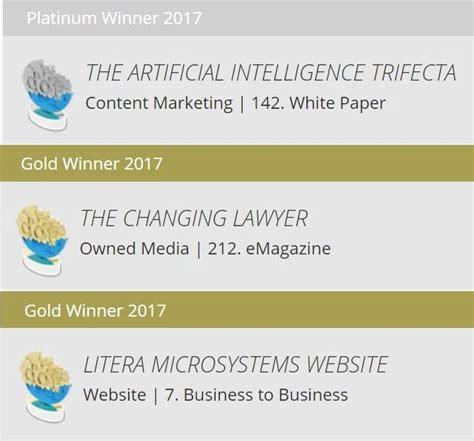 litera microsystems wins three dotcomm awards for 2017 litera microsystems