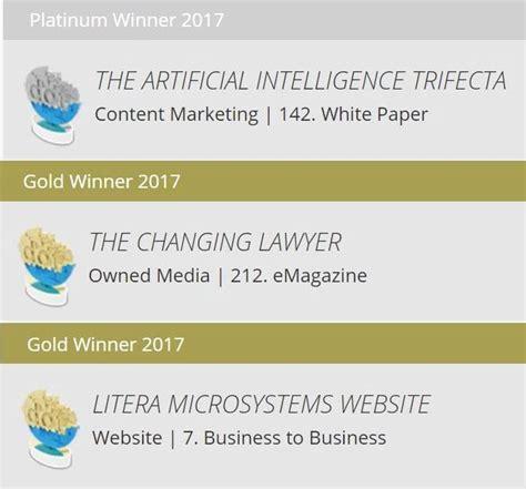 litera microsystems wins three dotcomm awards for 2017