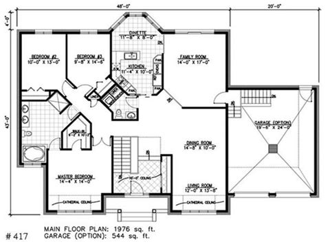 small one house plans bay window small house bungalow one bungalow house