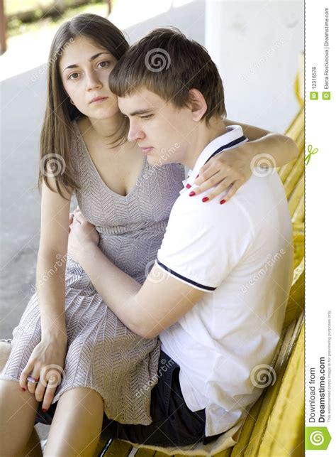 Sad Teen Couple Stock Photo Image Of City Unhappy