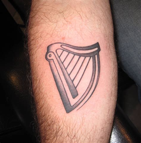 tate deans tattoo portfolio guinness harp
