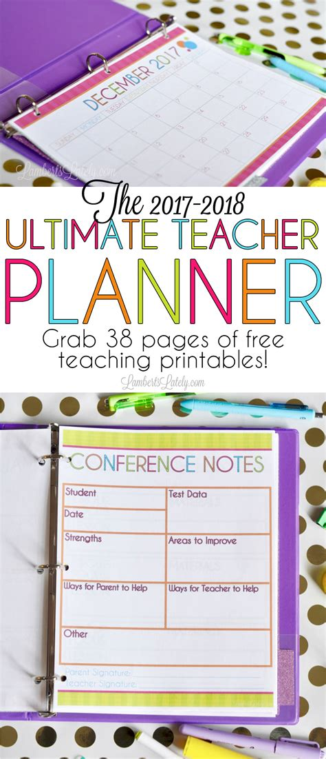 ultimate teacher planner awesome