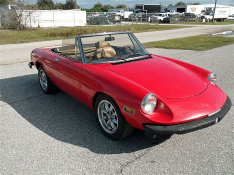 Alfa Romeo Restoration Parts by 1982 Alfa Romeo Spider Veloce Running For Parts
