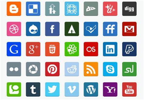 15 Best Flat Free Social Media Icons Sets 2019