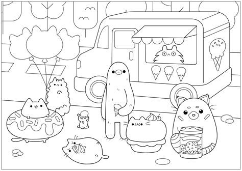 dibujos de pusheen para colorear dibujos para colorear coloreartv