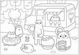 Pusheen Coloring Colorare Doodle Glace Coloriage Colorear Ice Cream Worksheet Marchand Doodling Worksheets Disegni Printable Christmas Doodles Kolorowanka Kawaii Kolorowanki sketch template