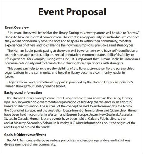 event proposal template word | Event planning proposal ...