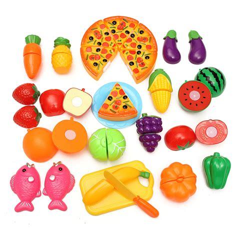 les jouets de cuisine 24pcs coupe jouet cuisine dinette fruit plastique enfant