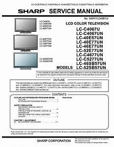 Sharp Lcc4067u Lcc4067un Lcc4677un Lcc5277un Lc40e67un
